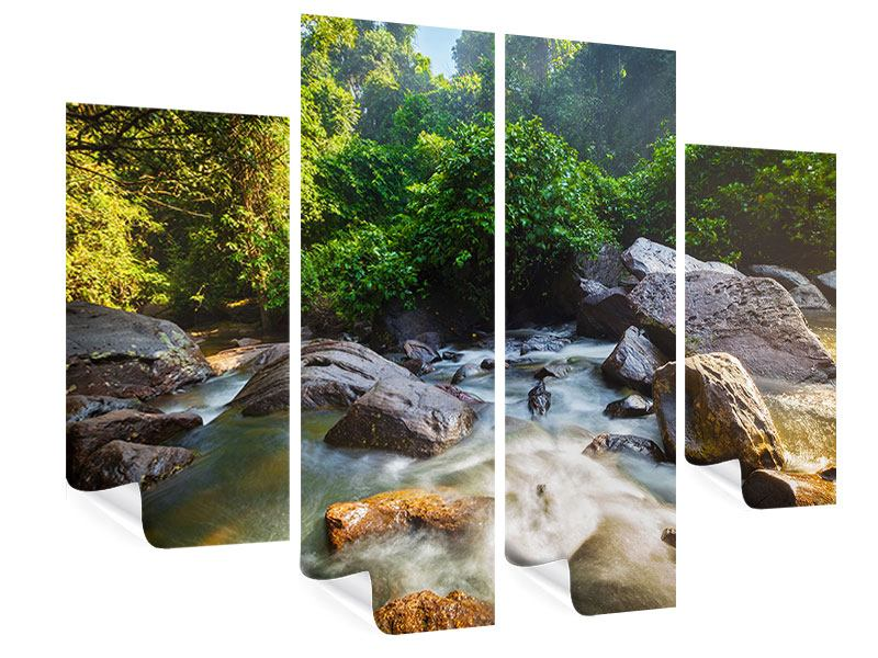 Poster 4-teilig Das Gewässer
