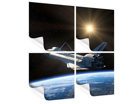 Poster 4-teilig Das Raumschiff
