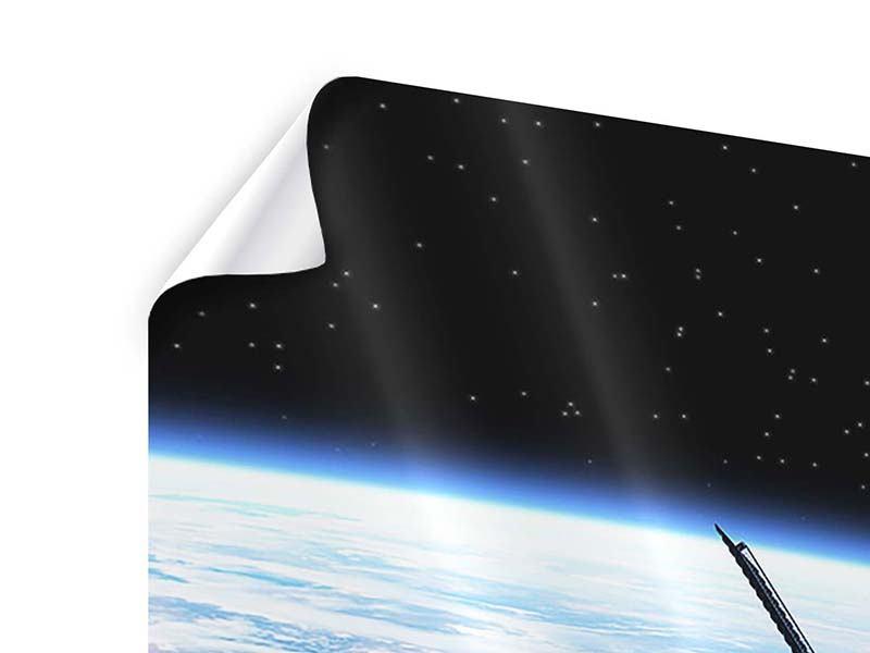 Poster 4-teilig Satellit