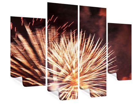 Poster 4-teilig Close Up Feuerwerk