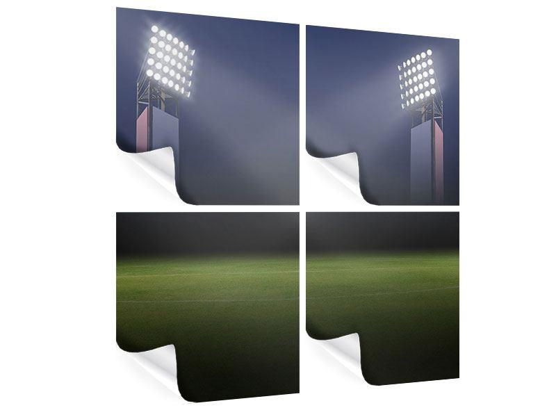 Poster 4-teilig Fussballstadion