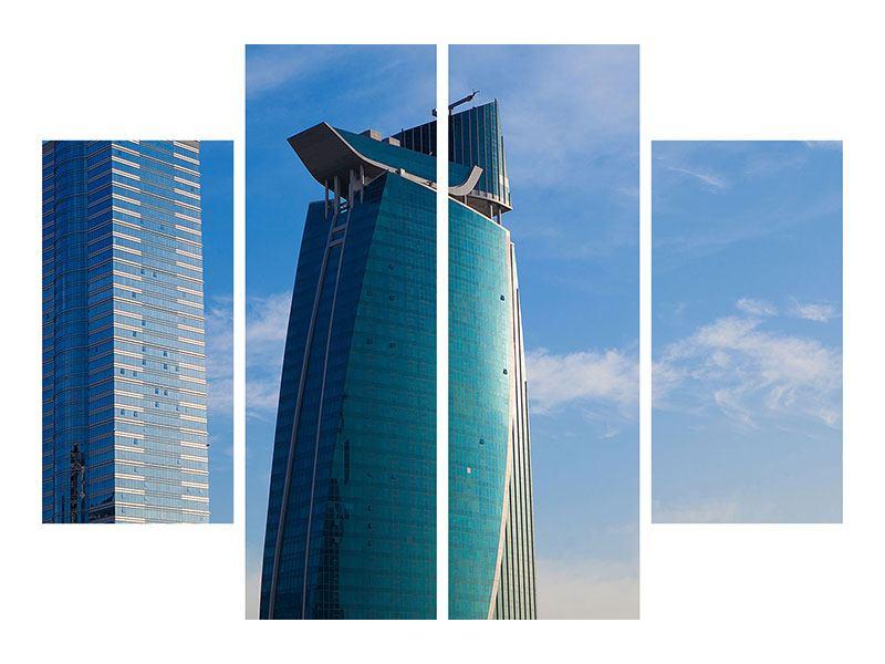 Poster 4-teilig Zwei Wolkenkratzer