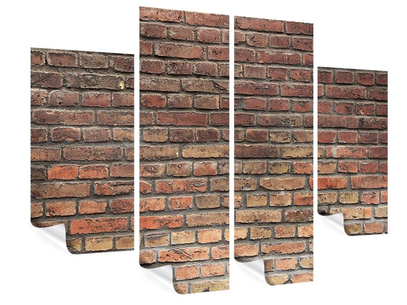 Poster 4-teilig Brick Wall