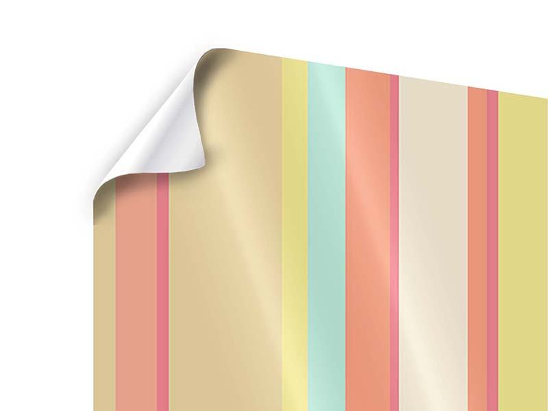Poster 4-teilig Pastell Streifen