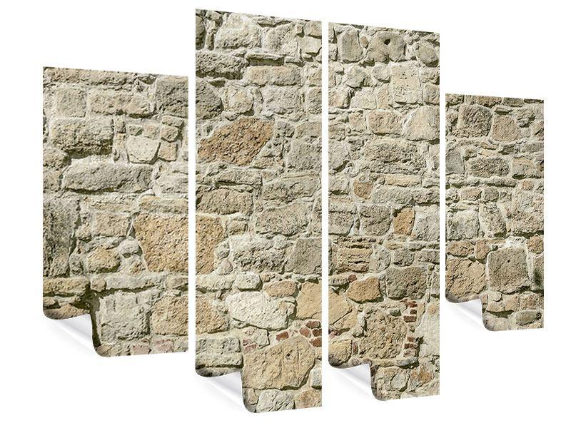 Poster 4-teilig Naturmauer