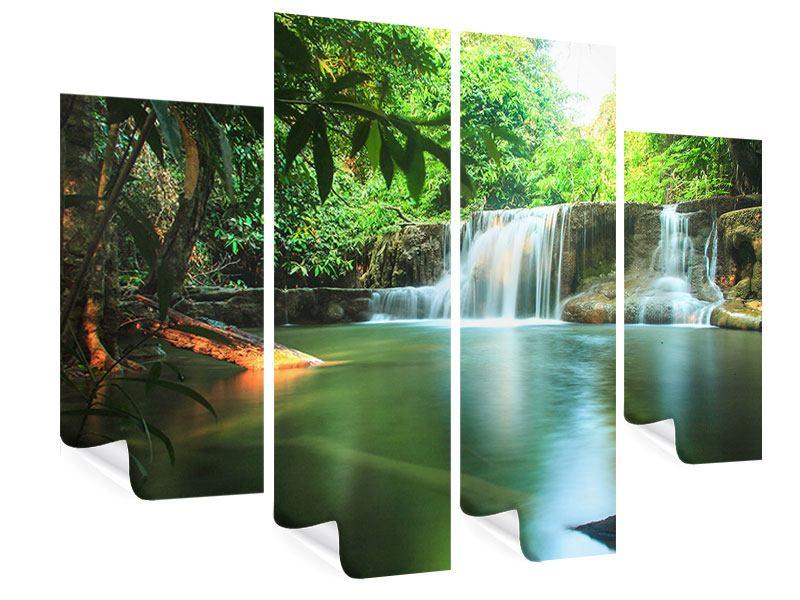 Poster 4-teilig Element Wasser