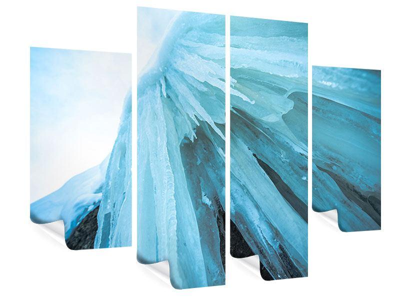 Poster 4-teilig Die Eiswand