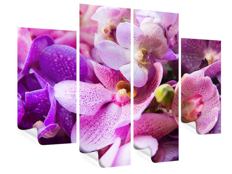 Poster 4-teilig Im Orchideenparadies