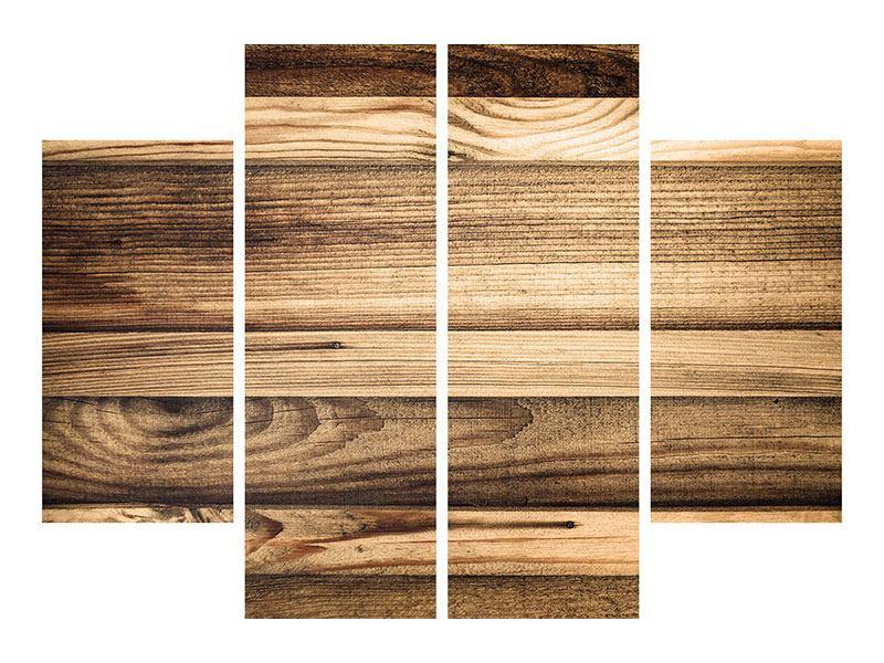 Poster 4-teilig Holztrend