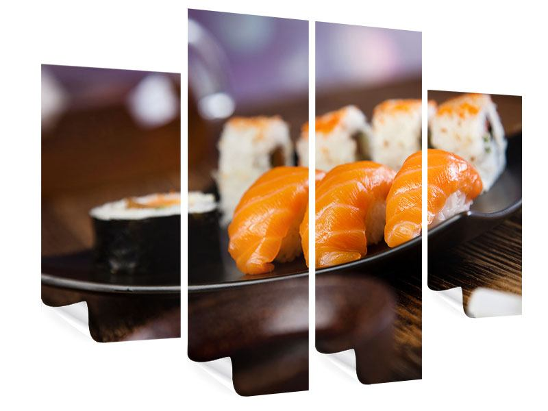 Poster 4-teilig Sushi-Gericht