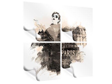 Poster 4-teilig Pariser Modell