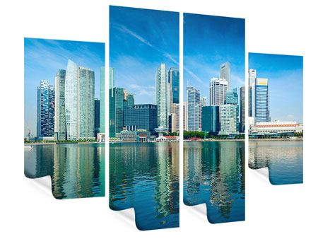 Poster 4-teilig Skyline Mexiko-Stadt