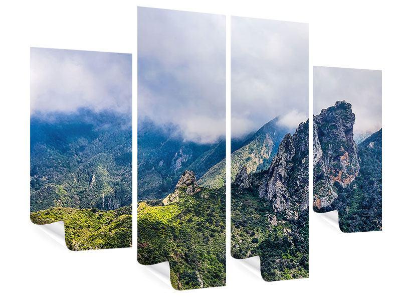 Poster 4-teilig Der stille Berg