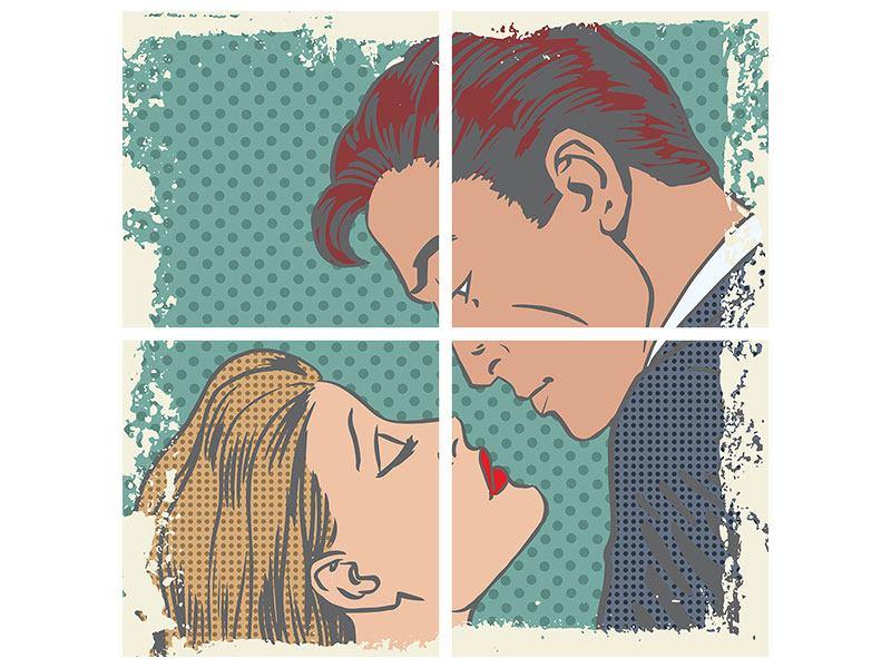 Poster 4-teilig Pop Art Liebe