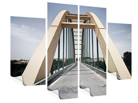 Poster 4-teilig Imposante Hängebrücke