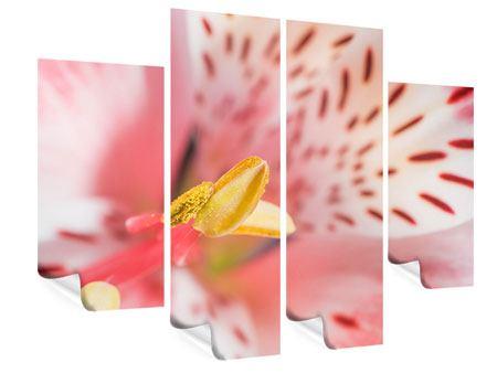 Poster 4-teilig Der Lilienstempel