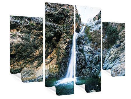 Poster 4-teilig Bewegtes Wasser
