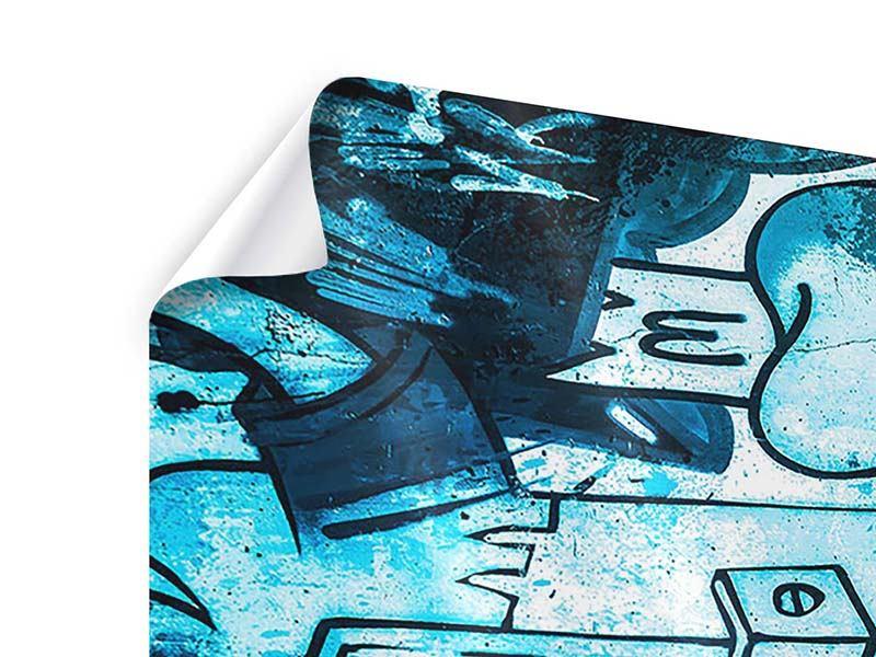 Poster 4-teilig Graffiti