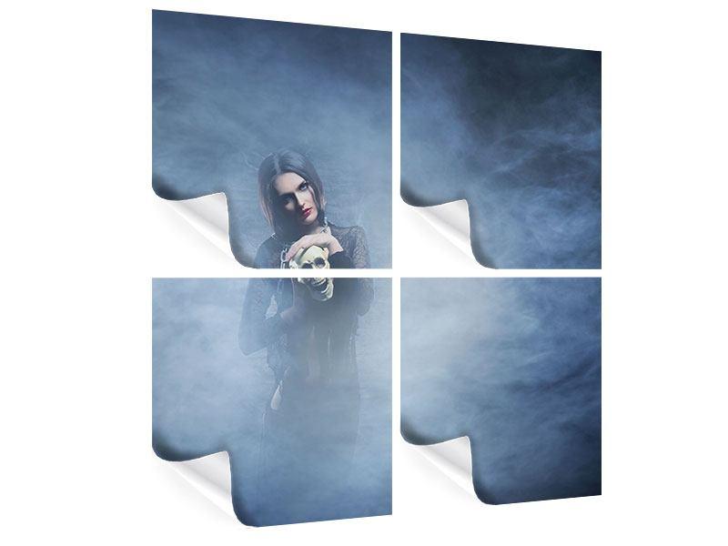 Poster 4-teilig Das Geheimnis des Skulls