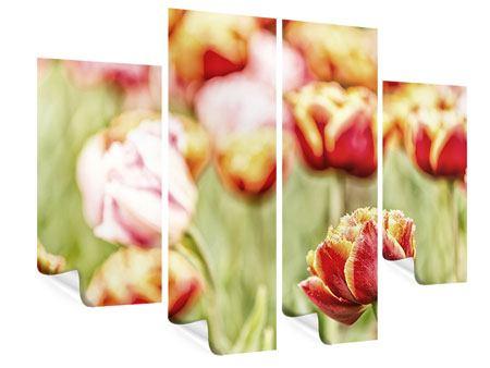 Poster 4-teilig Die Schönheit der Tulpe