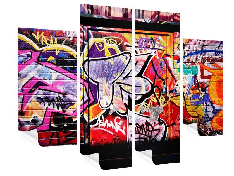 Poster 4-teilig Graffiti Kunst