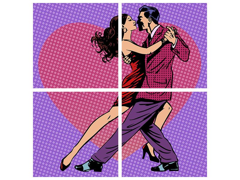 Poster 4-teilig Pop Art Lambada