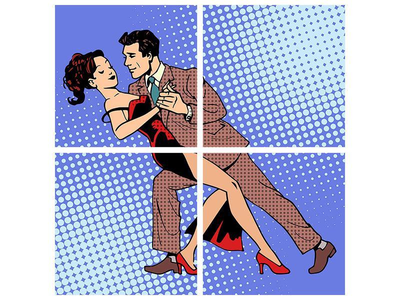 Poster 4-teilig Pop Art Merengue