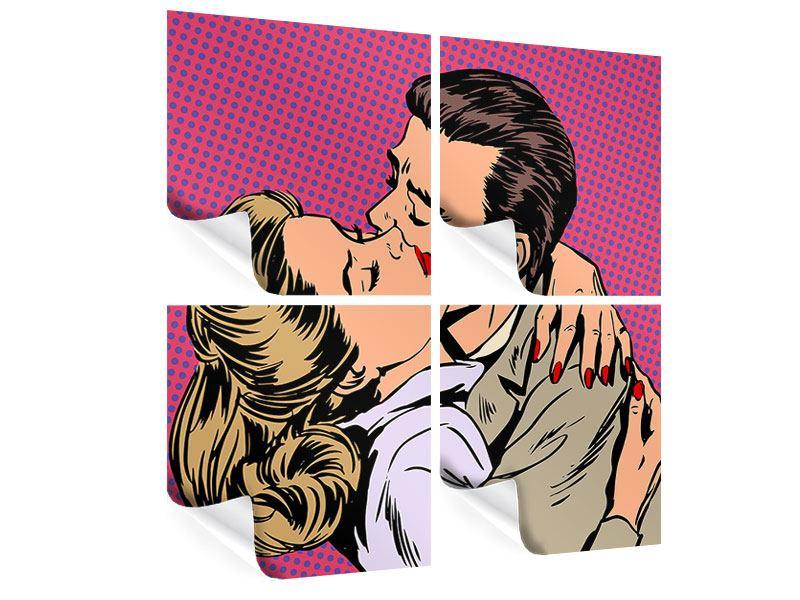 Poster 4-teilig Pop Art Sehnsucht