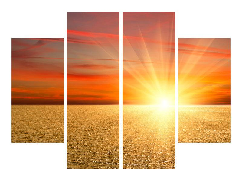 Poster 4-teilig Der Sonnenuntergang