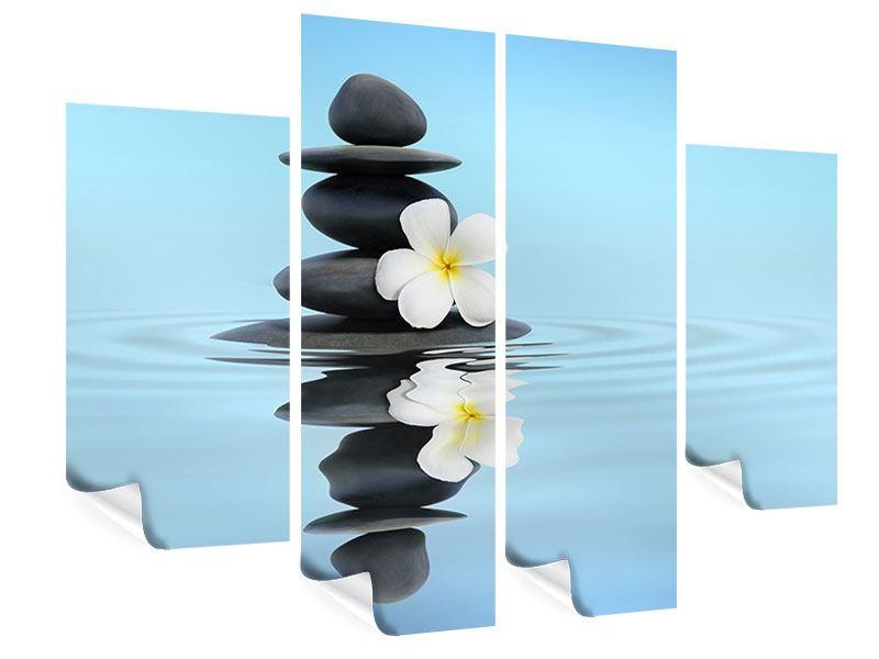 Poster 4-teilig Zen Steine