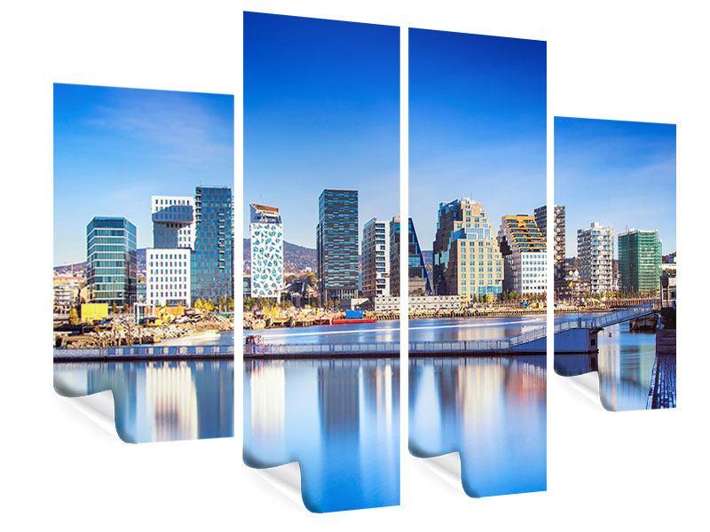 Poster 4-teilig Skyline Oslo