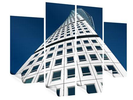 Poster 4-teilig Meisterstück Wolkenkratzer