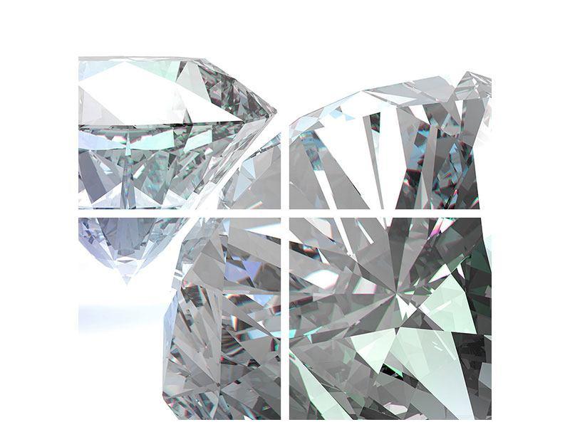 Poster 4-teilig XXL Diamant
