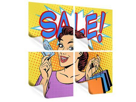 Poster 4-teilig Pop Art Sale