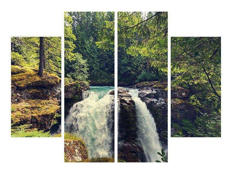 Poster 4-teilig Flussströmung