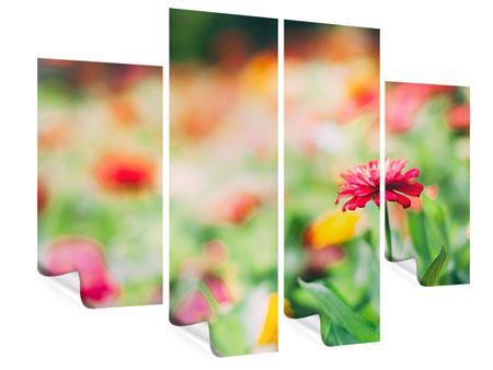 Poster 4-teilig Im Blumengarten