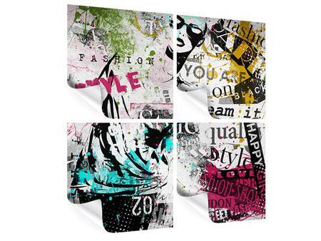 Poster 4-teilig Fashion