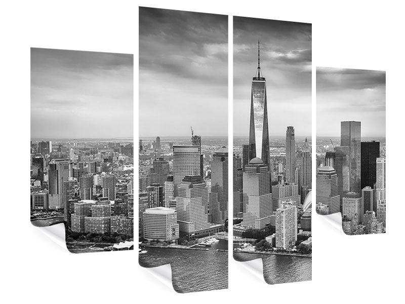 poster 4 teilig skyline schwarzweissfotografie new york. Black Bedroom Furniture Sets. Home Design Ideas