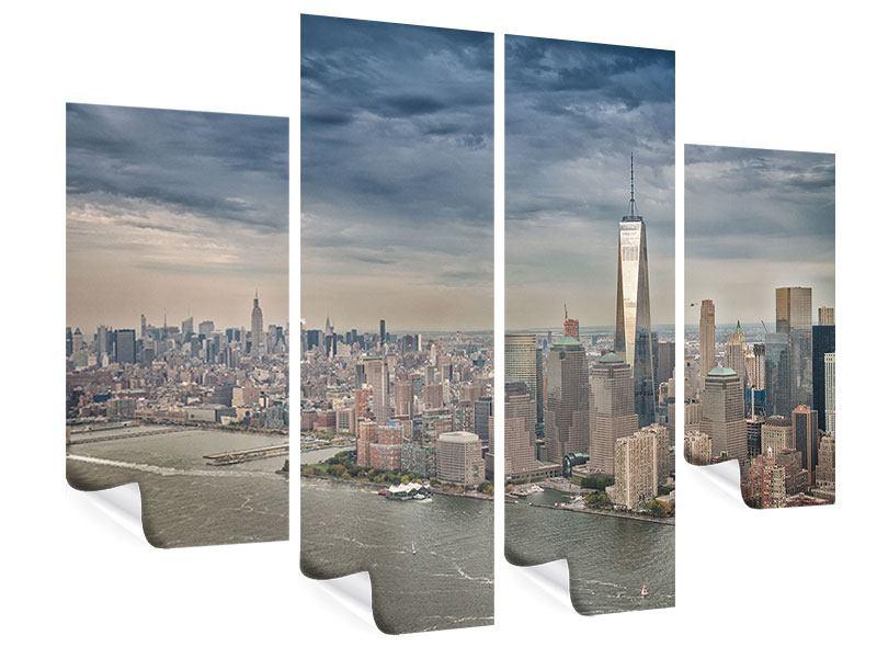 Poster 4-teilig Skyline Manhattan