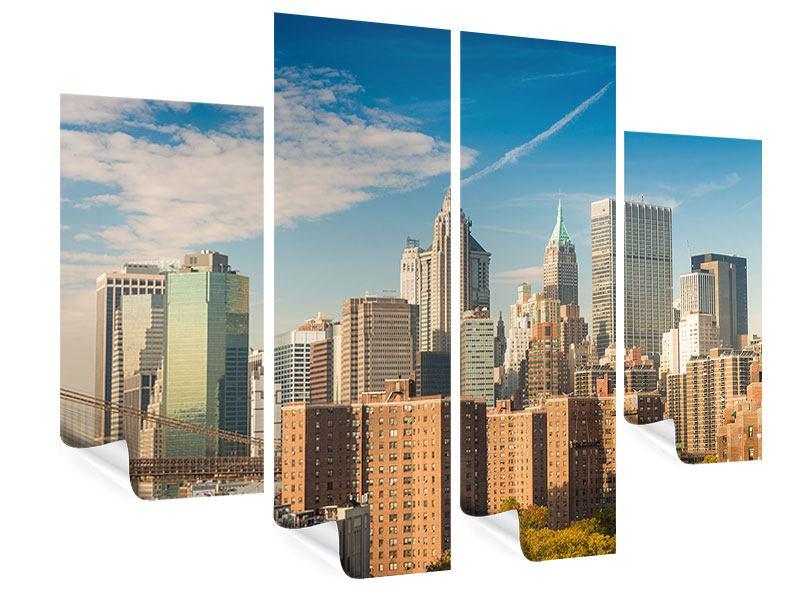 Poster 4-teilig Skyline New York