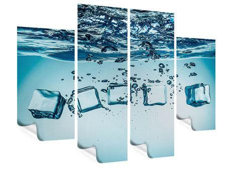 Poster 4-teilig Eiswürfel-Quadro