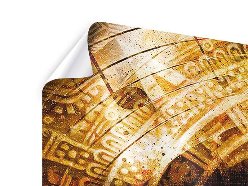 Poster 4-teilig Fraktales Auge