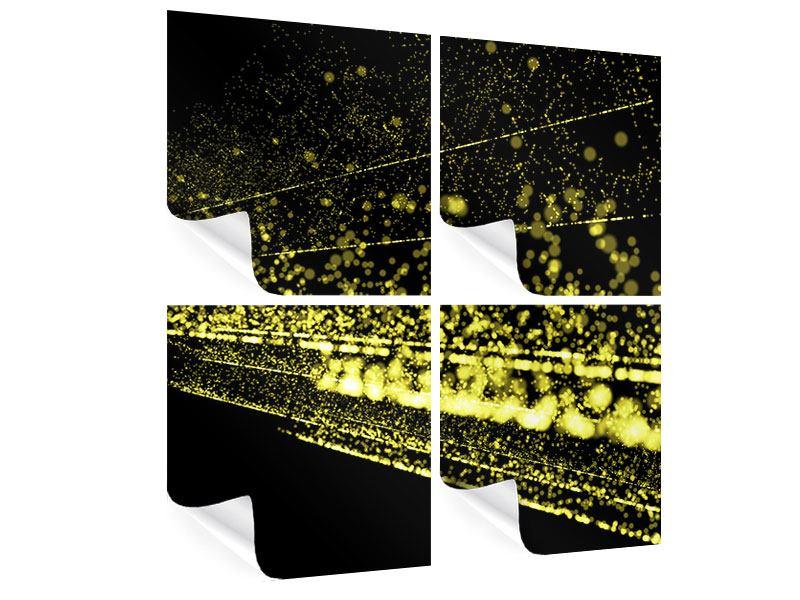 Poster 4-teilig Abstrakte Lichter