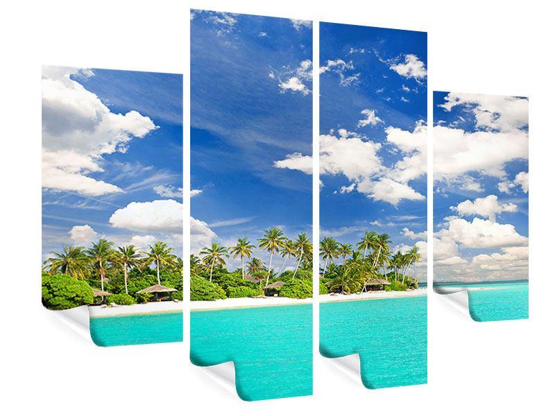 Poster 4-teilig Meine Insel
