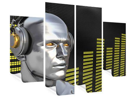 Poster 4-teilig Futuristischer DJ
