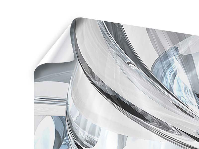 Poster 4-teilig Abstrakte Glasbahnen
