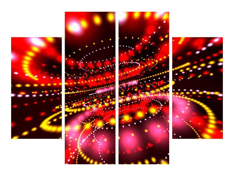 Poster 4-teilig Abstraktes Lichtspiel