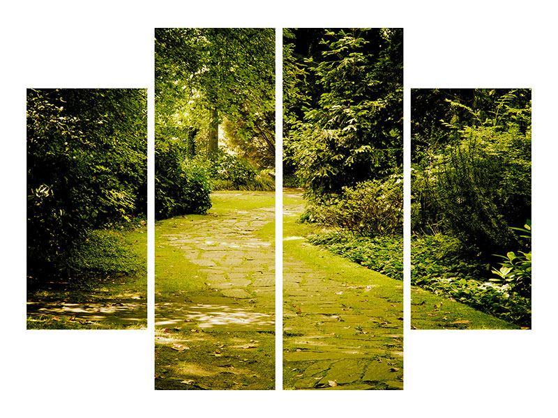 Poster 4-teilig Der bemooste Weg