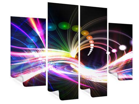 Poster 4-teilig Abstrakte Lichtreflexe