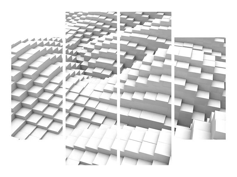 Poster 4-teilig 3D-Elemente